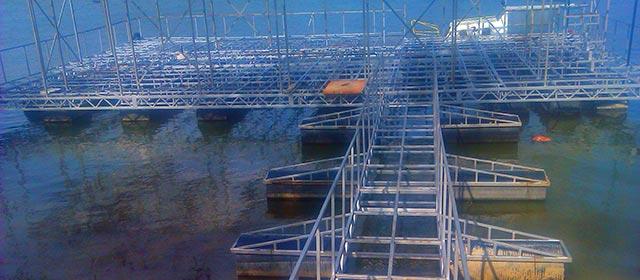 Plastični pontoni za plutajuće molove
