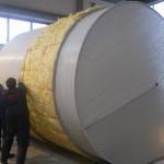 Prekrivanje termoizolovanog rezervoara plaštom