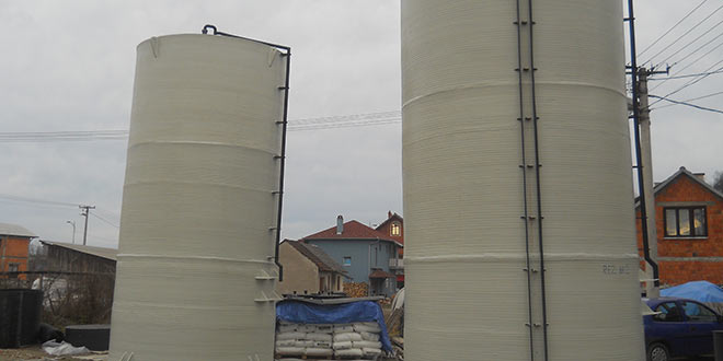 Plastični rezervoari za skladištenje demi vodе