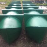 Plastični pontoni zelene boje